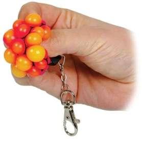 Porte-clés anti-stress balle à pustule