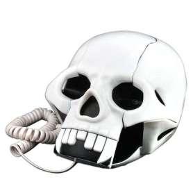 Téléphone fixe tête de mort
