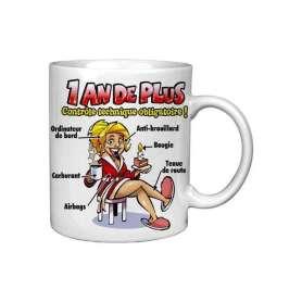 Tasse drôle de mug 1 an de plus pour femme