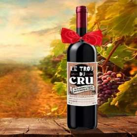 Bouteille de vin le trou du cru