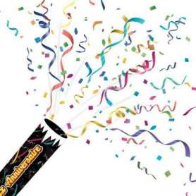 Lanceur de confettis joyeux anniversaire