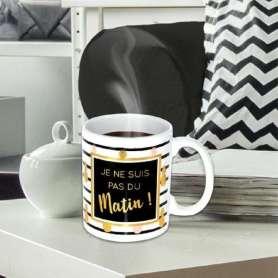 Mug « je ne suis pas du matin »