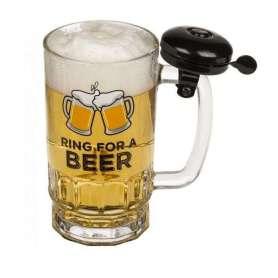 Chope de bière ring for a beer avec sonnette