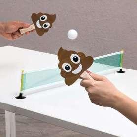 Ping pong de bureau avec raquettes émojicrottes