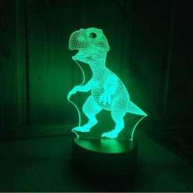 Veilleuse dinosaure effet 3D couleurs changeantes