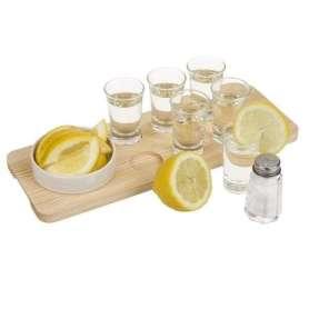 Service pour tequila plateau avec 6 verres shooter