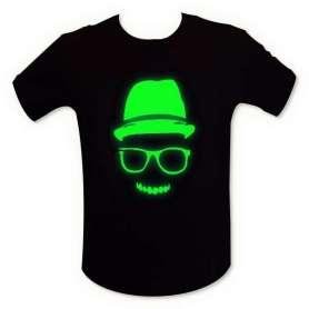 T-shirt fluorescent visage homme