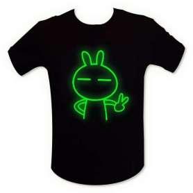 T-shirt phosphorescent lapin