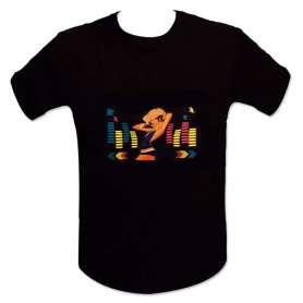 T-shirt equalizer LED dj femme blonde