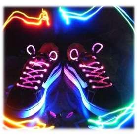 Paire de lacets LED lumineux