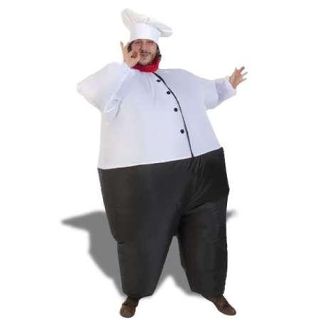 Déguisement gonflable hilarant de chef cuisinier