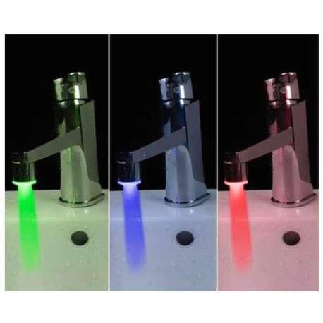 Robinet lumineux LED avec dynamo