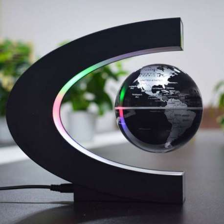Globe terrestre lévitation lumineux LED flottant magnetique