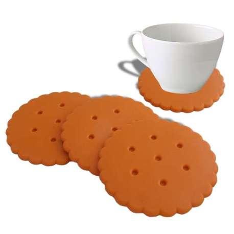 4 dessous de verre biscuit