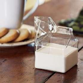 Brique de lait en verre pot à lait