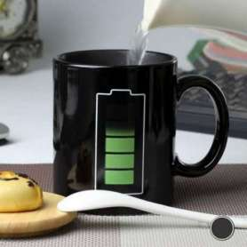 Tasse thermo-changeante batterie mug thermo-réactifs