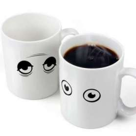 Tasse thermique yeux ouverts thermo-changeante
