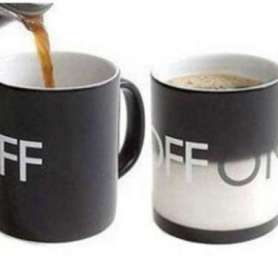 Tasse thermo-changeante On/Off mug thermo-réactifs