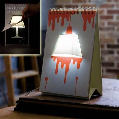 Lampe bloc-notes insolite