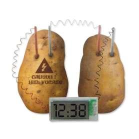 Horloge pomme de terre sans pile