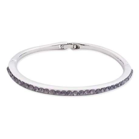 Bracelet rigide simple avec strass en décoration