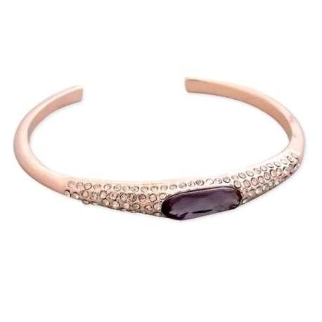 Somptueux bracelet doré serti de pierre violet et de strass