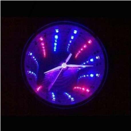 Horloge tunnel LED