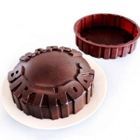 Moule à gâteau Happy Birthday Joyeux anniversaire silicone