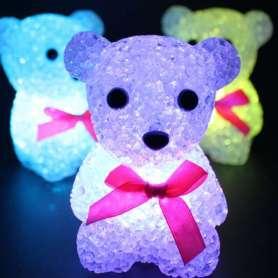 Lampe de chevet ourson avec 7 couleurs LED