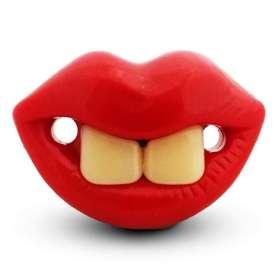 Tétine humouristique à deux dents