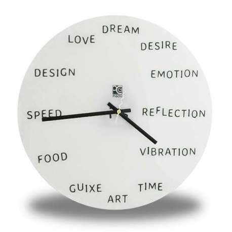 Horloge mots sexy en anglais