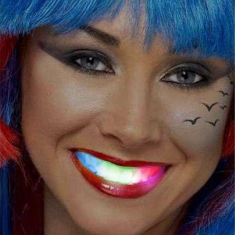 Dentier lumineux à led