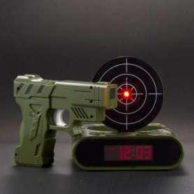 Réveil-matin digital pistolet et cible