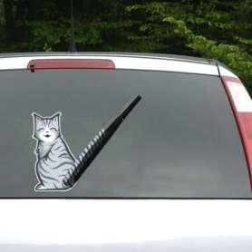 2 Stickers chats pour pare-brise