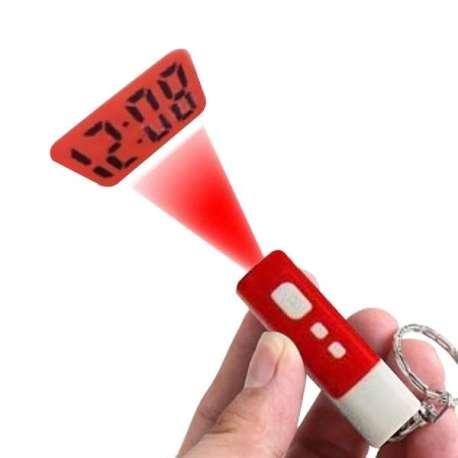 Porte-clés projection heure digitale