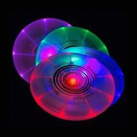 Frisbee lumineux multicolor