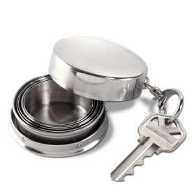 Verre en acier télescopique inoxydable porte-clés portable