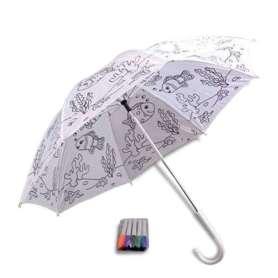 Parapluie à colorier et 5 feutres