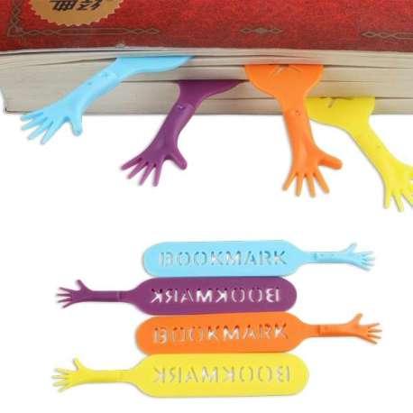 Marque-pages mains 4 couleurs