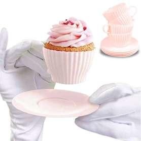 Moule muffin tasse et sous-tasse à café