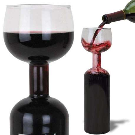 Verre à vin grande bouteille