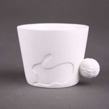 Mug lapin avec une anse en forme de queue