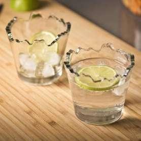 2 verres effets déchiquetés