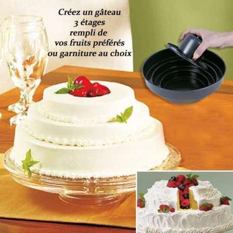 Moule gâteau à trois étages