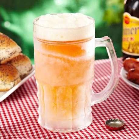 Chope de bière XXL 650 ml auto-réfrigérante double paroi