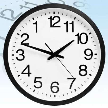 Horloge chiffres inversés