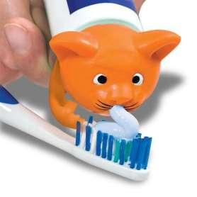 Bouchon distributeur dentifrice chat