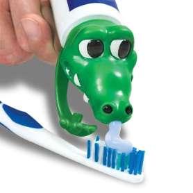 Bouchon distributeur de dentifrice crocodile