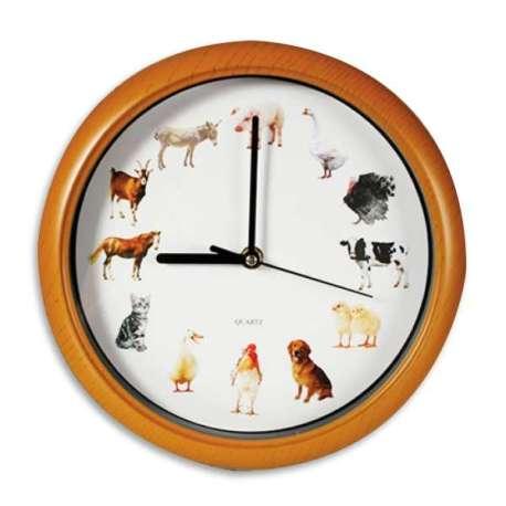 Horloge musicale animaux de la ferme