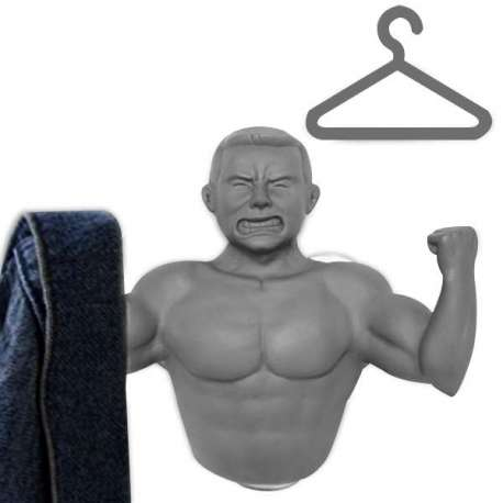 Porte-manteau homme musclé